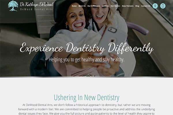 dewood dental arts website