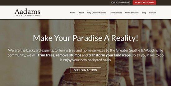 Aadams Tree Service screen shot